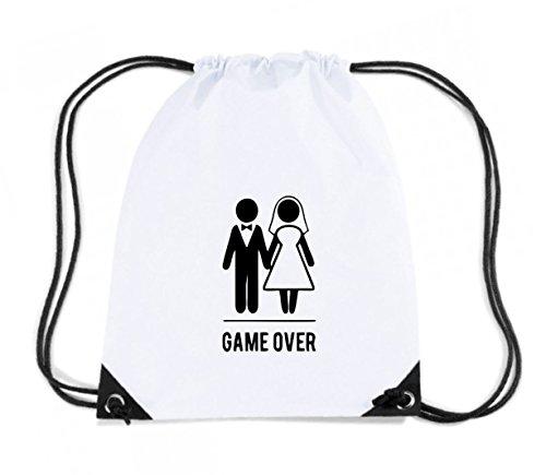 T-Shirtshock - Zaino Zainetto Budget Gymsac MAT0025 Game Over Bride and Groom Maglietta, Taglia Capacita 11 litri