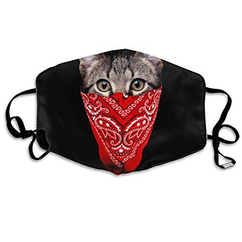 Gangster Katzen-Maske, Staubschutz, Ohrschlaufe, für Frauen und Männer, Anti-Grippe, Pollenkeime, Klettern, Halbgesicht, Mundmaske, verstellbares Band für Gesicht und Nasenabdeckung