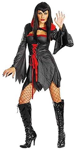 Damen Halloween Coven Queen Kostüm Onesize EUR 36-42 (Onesize (EUR
