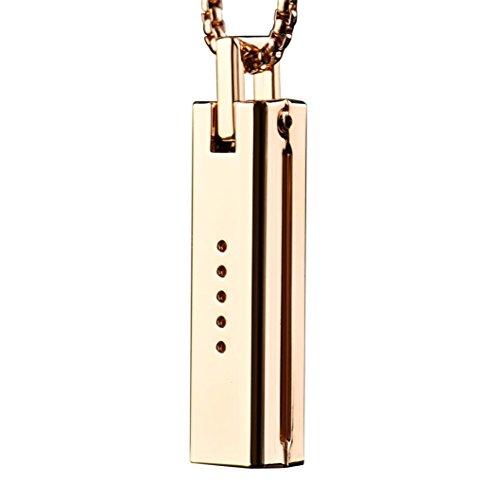 Hunpta Einzigartige Metall Halskette Anhänger Magnetische Halter Kette für Fitbit Flex 2 Band (Gold) - Magnetische Anhänger