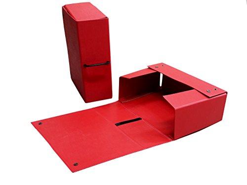 Takestop® scatole archivio con bottone e maniglia valigetta portaprogetti cartone porta documenti progetti archivio cartellina faldoni foladone casa ufficio colore casuale