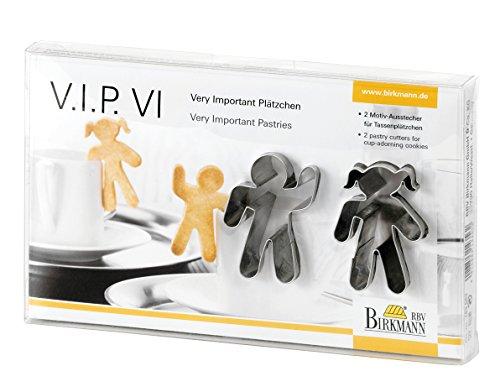 "2-tlg. Tassenkeks-Ausstecher Set ""V.I.P.VI"""