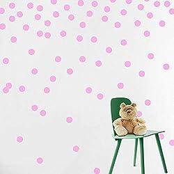 Rosa,Adhesivos de pared de lunares Adhesivos de pared de lunares, pared y pintura seguros.