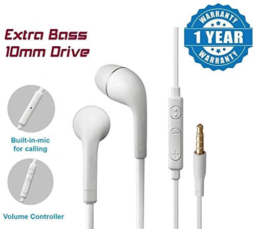 Drumstone Heavy Bass Noise Cancelling In-Ear Earphone With Mic,Volume & Call Controller Compatible With Sony Xperia M -3.5mm White