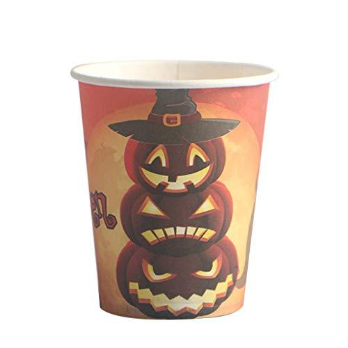 ikatur-Halloween-Kürbis-Mann-Hexe-Muster Wegwerfpapierschale für Cosplay Tanzen-Partei #2 5.5 * 7.5 * 8.5cm ()
