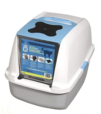 Catit Style Hooded Cat Pan/ Litter Tray/ Litter Box, 57 x 46 x 39 cm