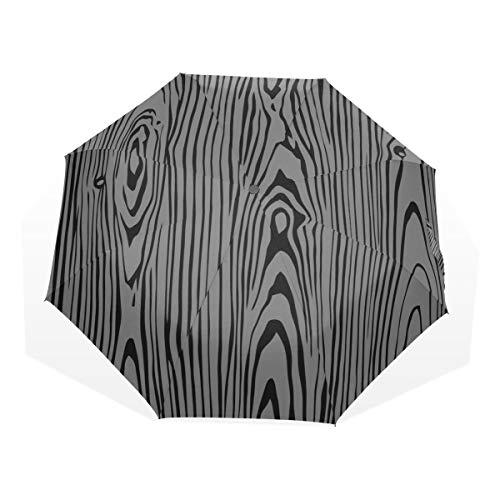 Reiseschirm Die Textur primitiver Bäume im Retro-Wind Anti-UV-Kompakt 3-Fach Kunst Leichte Faltschirme (Außendruck) Winddicht Regen Sonnenschutzschirme Für Frauen Mädchen -