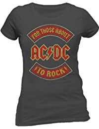 Live Nation - T-shirt Femme - Ac/Dc - About To Rock Banner