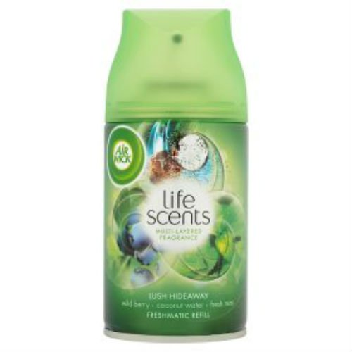 Air Wick Life Scents Nachfülldose für Lufterfrischer Freshmatic Max Refill Lush Hideaway 250ml Fall von 4 (Air Max Fall)