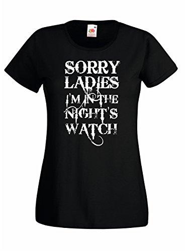 Settantallora - T-shirt Maglietta donna J295 Sorry Ladies I'M In The Night's Watch Taglia XL - Playboy Ladies Watch