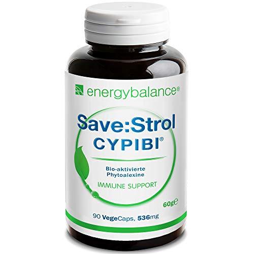 EnergyBalance Save:Strol CYPIBI mit 2671 SaveStrol Hydro & Lipo Punkte - 90 pflanzliche natürliche Kapseln - Polyphenolextrakt und Anthocyane aus Heidelbeerextrakt - Markenqualität aus der Schweiz