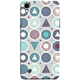 Printfidaa Geometric Icons Fabric Print Designer Back Cover for LG X Power, K220DS K220