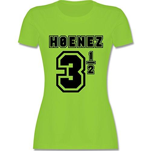 Fußball - Hoenez Fußball Trikot - tailliertes Premium T-Shirt mit Rundhalsausschnitt für Damen Hellgrün