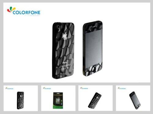 hochwertige Displayschutzfolie Display Schutz Folie matt Screen Protector 3D Wasserwürfel Apple iPhone 4 4S 3.5' Anti-Glare Wasser Würfel (Iphone Für Foto-würfel)