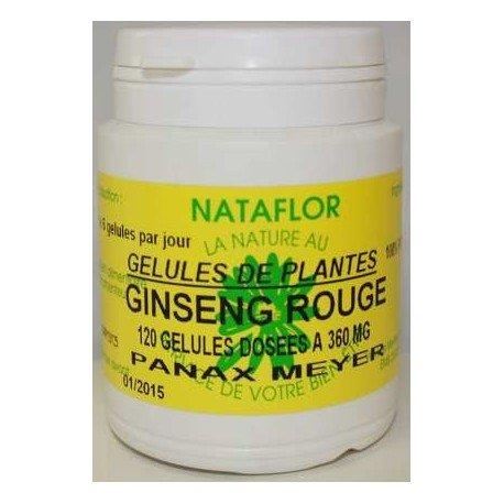 GELULES GINSENG rouge panax meyer 240 gélules dosées à 360 mg.