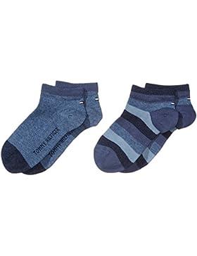 Tommy Hilfiger Jungen Socken TH KIDS BASIC STRIPE QUARTER, 2er Pack