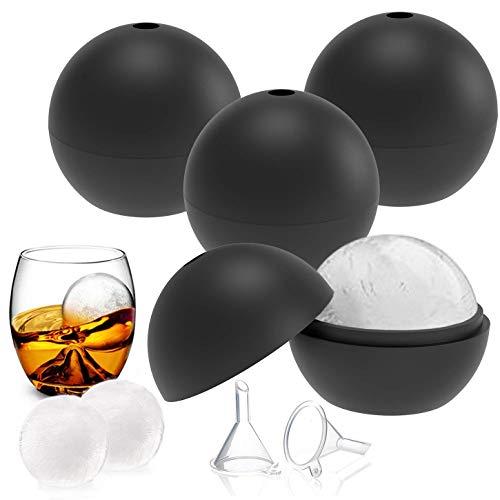 6er Pack Ice Balls, Eiswürfelbereiter aus flexiblem Silikon in Lebensmittelqualität für Whisky-Eis, Cocktails, Gin-Gläser, Scotch und Candy Pudding Jelly Milk Juice Schokoladenform
