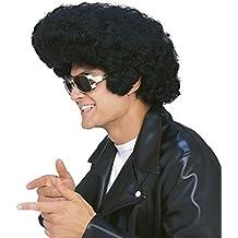 Rubies - Peluca de rockstar, color negro (50476)