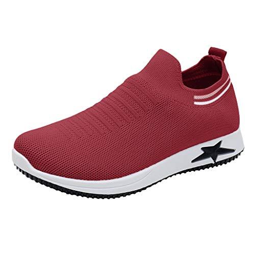 (LILIHOT Frauen Sport Laufschuhe einen Fuß faul Schuhe Socken Spitze Socken hohe Rohr Stricken Sporttraining Sport Air Sohlen Freizeitschuhe atmungsaktiv niedrig Hilfe Knospe Mesh Auge Outdoor-Schuhe)