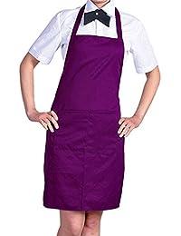 Tablier Cuisine Simple Avec Poche Avant Chefs Bouchers Artisanale UK Cuisson (Violet)