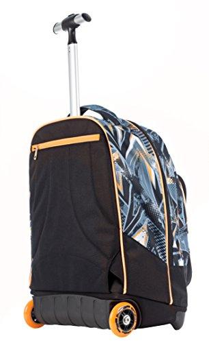 Imagen de trolley fit  seven  freestyle  con ruedas y correas de hombro ocultables  gris naranja 35lt alternativa