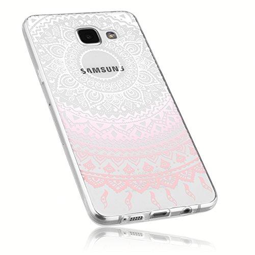 mumbi UltraSlim Hülle für Samsung Galaxy A5 (2016) Schutzhülle im Mandala Design transparent rosa (Ultra Slim - 0.55 mm)