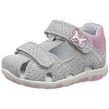 Superfit Baby Girls' Fanni Sandals, Grey (Hellgrau/Rosa 25), 3 UK