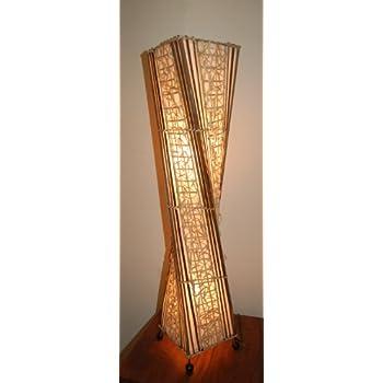 Tall Bamboo Floor Lamp: Amazon.co.uk: Lighting