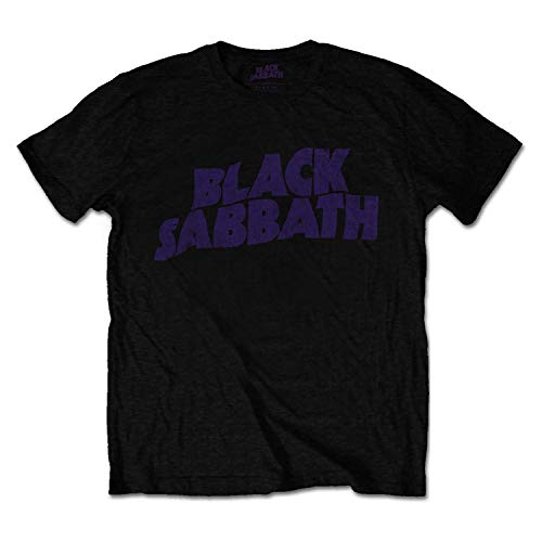 Black Sabbath Officially Licensed - T-Shirt Camiseta Vintage Wavy...