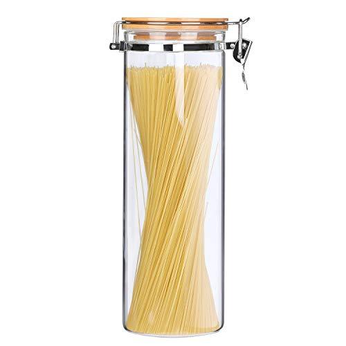KKC Vorratsdosen Glas mit Deckel,Glasbehälter Luftdicht,Clip & Close,2 Liter,Lebensmittel Aufbewahrungsdosen,die Aufbewahrung von Pastas,Spaghetti,Müsli,Mehl