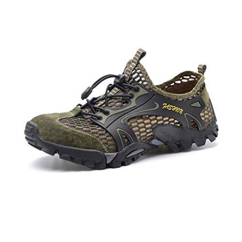 4922fe3ee7911 Men's Summer Water Shoes, Men's Hiking Shoes Lightweight Quick Dry Mesh  Breathable Sports Trekking Aqua Shoes Outdoors Cross Country Trekking ...