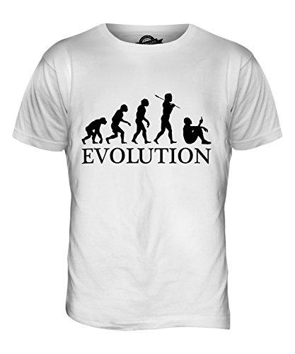 CandyMix Smartphone Evolution Des Menschen Herren T Shirt Weiß