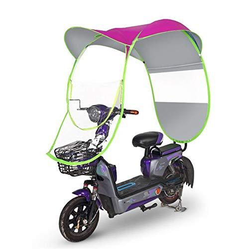 ZXXxxZ Motorrad Baldachin Motorrad Dach Motor Fahrrad Sonnenblende Schatten Zelt Regenschirm Windschutzscheibe,Rosa