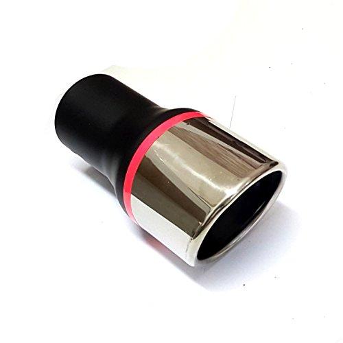 Preisvergleich Produktbild akhan-tuning Akhan ER032 - Edelstahl Auspuffblende Endrohr zum anschrauben Maße: L=177 B=89 H=89mm