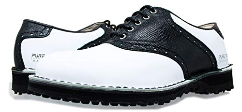 brand new 3811e c5a4e PORTMANN Saddle Classic Spikeless Men s Golf Shoes   Premium Leather    Welted shoe   Extralight and