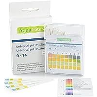 AquaNatura Wasser pH Teststreifen von 0 - 14 (100 Stück) Säure Basen Teststreifen