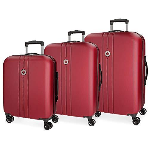 Set valigie rigide 55-70-80cm Movom Riga Rosso