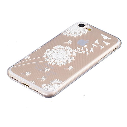 Pour iPhone 7 Plus / Pro Coque,Ecoway Housse étui en TPU Silicone Shell Housse Coque étui Case Cover Cuir Etui Housse de Protection Coque Étui –œil Dayan pissenlit