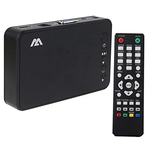 1949shop Full HD 1080p HDMI Media Player Festplatte MKV SD USB TV AVI RM Automatische Wiedergabe und kabellose Fernbedienung