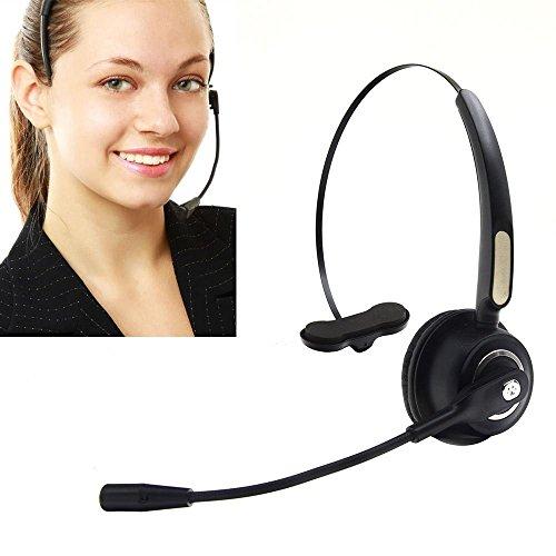 Bluetooth Wireless Headset BizoeRade Noise Cancelling Headset mit Mikrofon für Handy für PC Laptop,Treiber und Telefon Operator Call Center (Wireless Headset, Call-center)