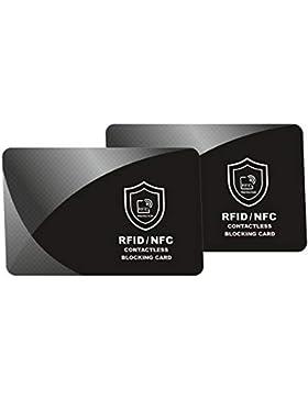 Protector de tarjetas contactless, RFID y NFC Bloqueo - SmartProduct RFID Blocker Card - tarjeta de bloqueo de...
