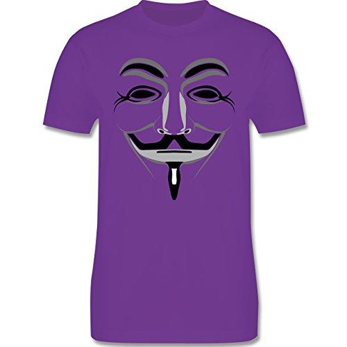 Nerds & Geeks - Anonymous Maske - Herren Premium T-Shirt Lila