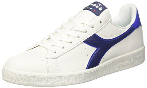 Diadora Game P, Sneaker Uomo, Bianco (BCO Blu Estate Azzurro Scuro), 44 EU
