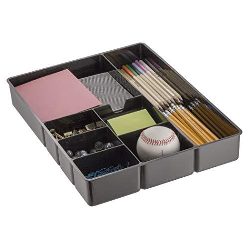 Officemate Schreibtisch-Schublade, 21322, 7 Fächer, schwarz -