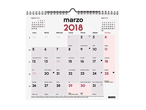 Calendario Spagnolo.Finocam Neutro Calendario Da Parete 2018 Per Appunti