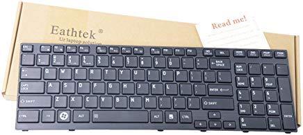 eathtek Ersatz Tastatur für Toshiba Satellite P750P750D P755P755D P770P770D P775P775D Qosmio X770X 775pk130iu1b00nsk-tq1gc Serie Schwarz US Layout (P775 Toshiba Satellite Laptop)