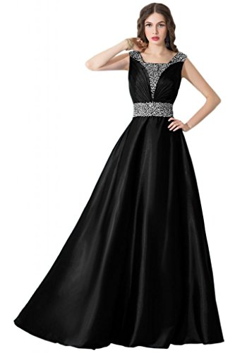 Sunvary Gorgeous Scollo quadrato strass, tacco Gowns Black