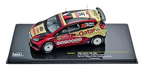 Ixo-ram591-Ford Fiesta RRC-Winner wrc2Australien 2014-Maßstab 1/43-Bordeaux/Gold