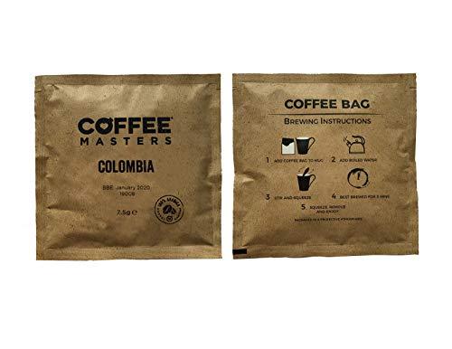 Coffee Masters Kolumbische Kaffeebeutel (wie Teebeutel) x 100