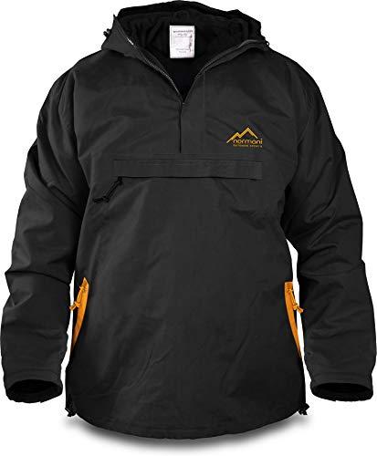 normani Winddichte Funktions-Jacke für Damen und Herren von S-4XL Farbe Schwarz/Orange Größe L